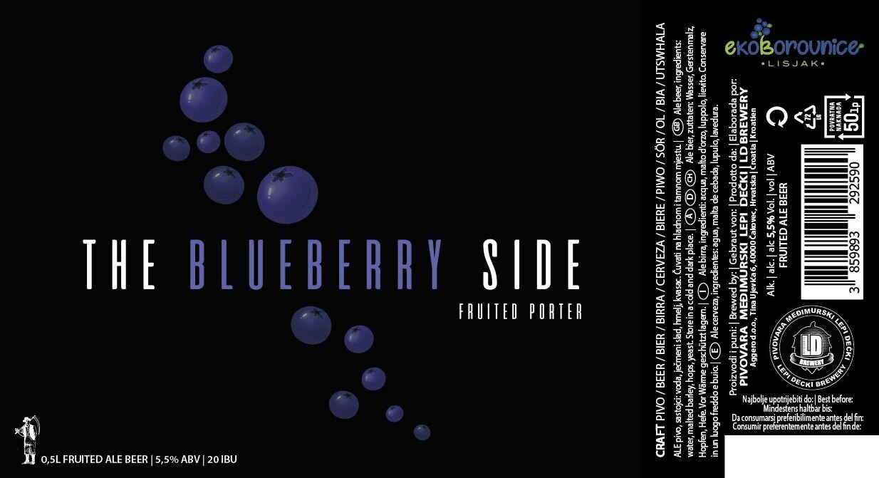 The Dark Side Blueberry etiketa